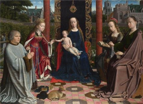 [Perfect Effect Canvas ,the Best Price Art Decorative Canvas Prints Of Oil Painting 'Gerard David - The Virgin And Child With Saints And Donor,probably 1510', 18x25 Inch / 46x63 Cm Is Best For Gift For Bf And Gf And Home Decor And] (Nerd Costumes At Party City)
