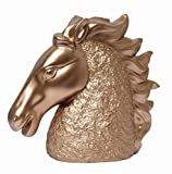Hosley 7.1'' High, Horse Sculpture Decorative Tabletop, Horse head. Gold. Ideal Gift for Wedding, Home, Party Favor, Spa, Reiki, Meditation, Bathroom Settings O9