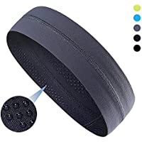 Panija Sport Headband, Yoga and Cooling Headbands That Can Absorb Sweat and Which Has A Very High Elasticity, Useful for Fitness, Gym, Great for Women and Men (Grey)