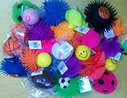 Stress Balls and Squeeze Toys Value Assortment (12 Pack) Stress Relax Toy Balls, Puffer Ball Assortment