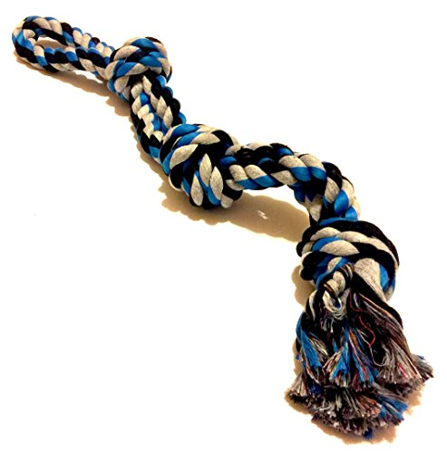 Mary & Kate Pets Dog Toy for Aggressive CHEWERS - Large Dogs and Puppies - Sturdy TUG Rope - Thick Chew Knots - Extra Durable - Nearly Indestructible - Heavy ()