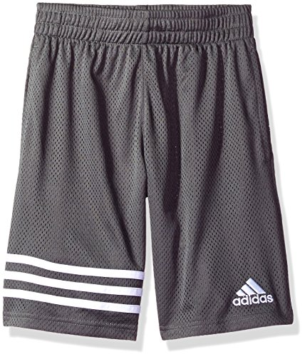 adidas Boys Big Athletic Short, Dark Gry, M