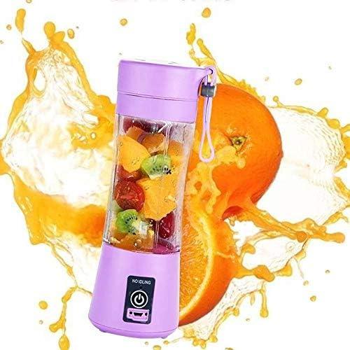 IXL - Exprimidor portátil USB de frutas, exprimidor eléctrico, mini exprimidor para el hogar, batidora de batidos, morado, Federación de Rusia