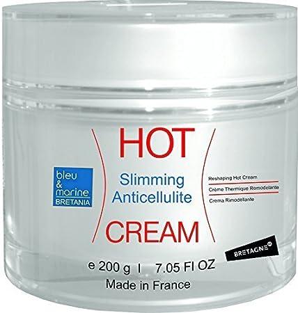 bleumarine Bretania Crema Hot Anti Celulitis Adelgazante 200 ml Crema TÉRMICA con Algas, Café y Canela Efecto Calor Quema Grasa Abdominales marcados Hombres Deporte