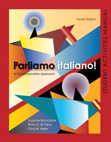 Parliamo italiano 4th Edition Activities Manual: Activities Manual and Lab Audio