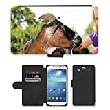 Super Stella Cell Phone Card Slot PU Leather Wallet Case // M00106192 Petting Zoo Goat Stroke Pet // Samsung Galaxy S3 S III SIII i9300