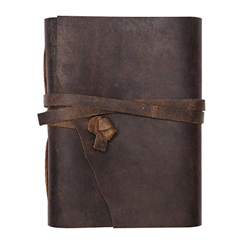 (Christmas Gifts Genuine Leather Genuine Leather Journal / Personal Diary / Writing Notebook / Scrap Book/ Doodle Book / Travel Book)