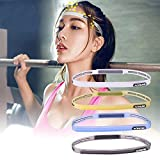 ezyoutdoor 1 Piece Unisex Anti-slip Elastic Rubber Sweatband Comfortable Elastic Silicone Grip Exercise for Basketball Soccer Tennis Cross-fit Yoga Golf Cycling Camping Hiking(Random Color)