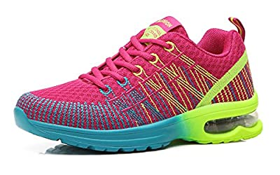 No.66 TOWN Womens Air Cushion Flyknit Athletic Running Shoes Fashion Sneakers