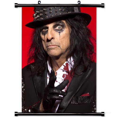 Home Decor Music (Hot singer) poster with Alice Cooper Costume Image Makeup Blood Wall Scroll Poster Fabric Painting 24 X 36 Inch (60cm X 90 ()