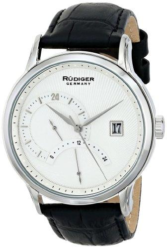 Rudiger Men's R2700-04-001 Aachen Analog Display Quartz Black Watch