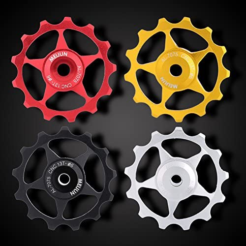 Al Alloy 11//13T MTB Road Bike Jockey Wheel Rear Derailleur Pulley Bearing Guide