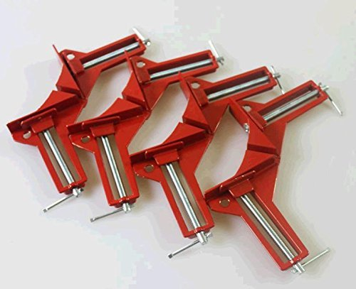 (Roto - 4 pcs of 90 Degrees Angle Clip, Right Angle Folder, Woodworking Clip,frame Folder,angle Clamp,corner Clamp for Aquarium)