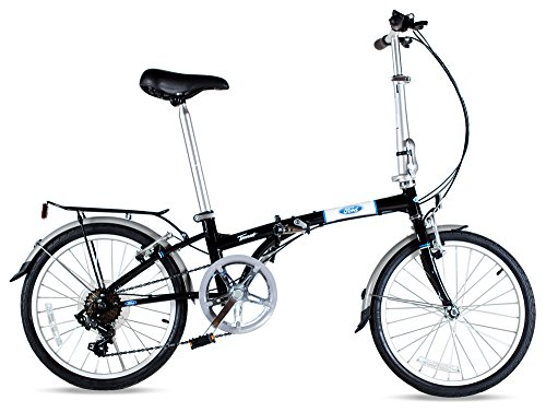 Ford by Dahon Taurus 2.0 7-Speed Folding Bicycle, Black, 11