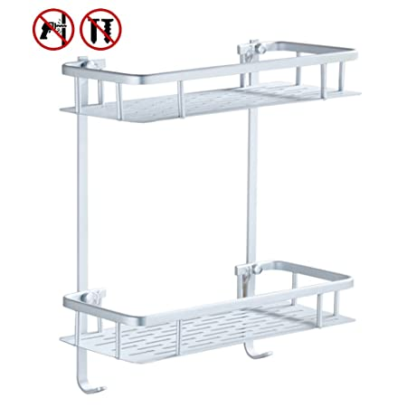 No Drilling Bathroom Shelves: Amazon.co.uk: DIY & Tools