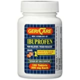 Ibuprofen 200mg Coated Tablets 100 Count (Generic AdvilAR) by Geri-Care Pharmaceutical Corp.