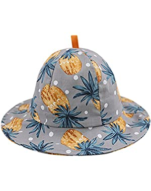 Unisex Baby Fashion Cartoon Printing Cotton Fisherman Hat Sun Hat(6-18Months)
