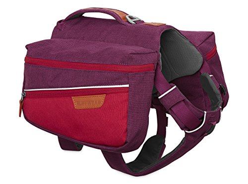 RUFFWEAR Dog Pack for Everyday Use, Medium Sized Breeds, Adjustable Fit, Size: Medium, Larkspur Purple, Commuter Pack, 5050-580M