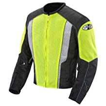 Joe Rocket Phoenix 5.0 Men's Mesh Motorcycle Riding Jacket (Hi-Vis Neon/Black, X-Large)