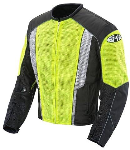 Joe Rocket Phoenix 5.0 Men's Mesh Motorcycle Riding Jacket (Hi-Vis Neon/Black, Medium) (Rockets Neon)