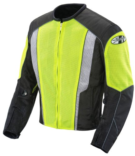 Joe Rocket Phoenix 5.0 Men's Mesh Motorcycle Riding Jacket (Hi-Vis Neon/Black, Large)