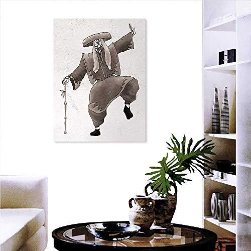 Warm Family Kabuki Mask Customize Wall Stickers Oriental Style Artist Make Up Costume Pose Dance Ancient Artwork Canvas Print Wall Art 16