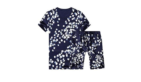 Sheng Xi Mens Fashion Tracksuit Set Floral Print Tracksuit Outfit