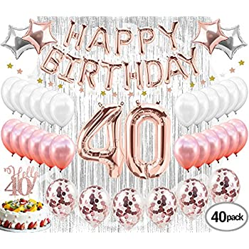 40th Birthday Decorations Party Supplies Balloons