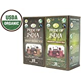 Pride Of India - Organic Digestive/Weight Loss Tea Combo Pack - Pure Oolong & Green Tea