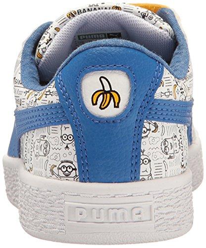 Puma Kids Minions Basket V Sneaker Puma White-lapis Blue