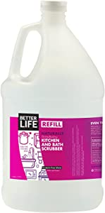 Better Life Natural Kitchen & Bath Scrubber Refill, 128 Ounces