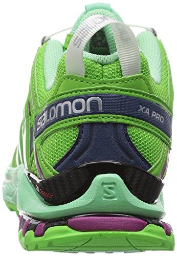 Salomon Xa Pro 3d, Zapatillas de Trail Running para Mujer Verde (Tonic Green / Lucite Green / Mystic Pur)