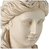 "Classic Greek 17 1/2"" High Antique White Bust"