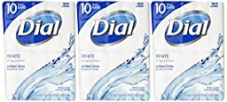 Dial Antibacterial Deodorant Bar Soap, White, 4 Ounce Bars, 10 Count (Pack of 3)