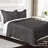 quilt double bed - 3 Piece Quilt Set Twin Size By Clara Clark - Luxury Bedspread Coverlet Soft All Season Microfiber - Machine Washable - Comes in Many Colors - set includes Quilt & Shams