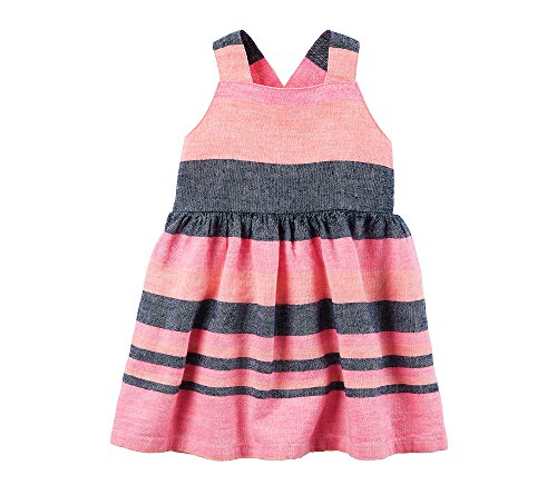 Carter's Baby Girls' Striped Dress 9 Months
