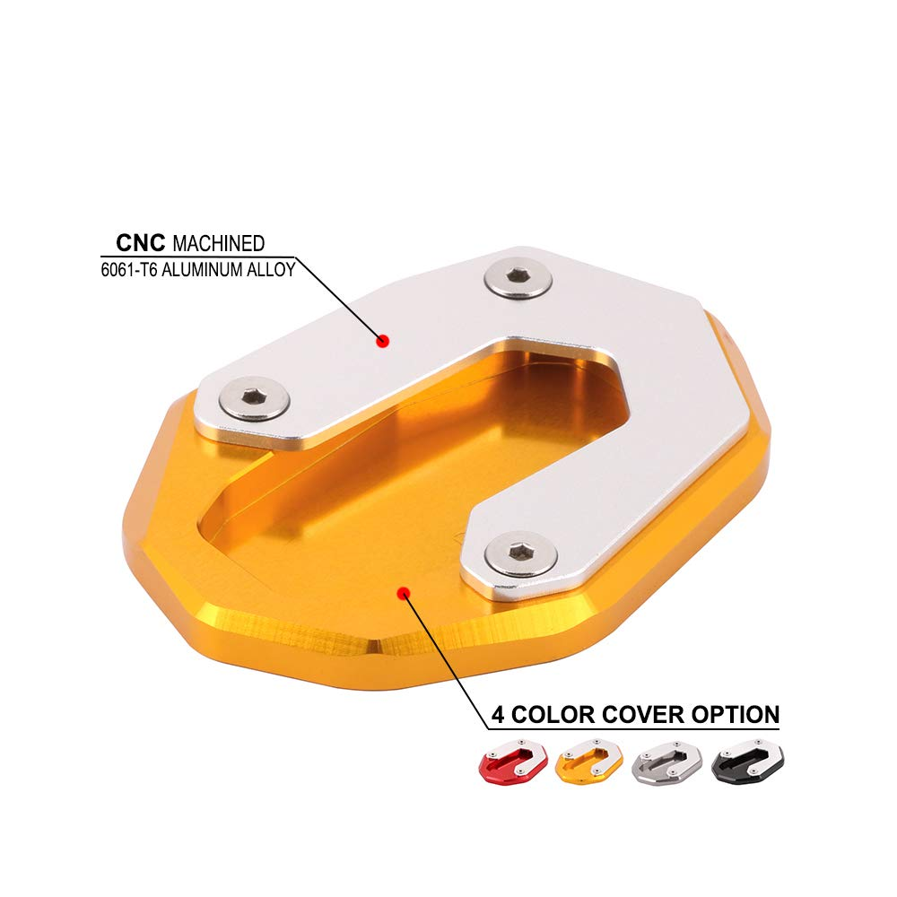 JFG RACING CNC pedana moto laterale supporto cavalletto prolunga Pad per Ducati Scrambler SIXTY2/800/Classic Icon