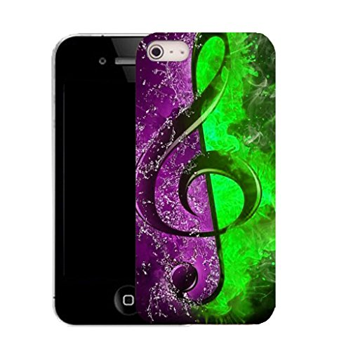 Mobile Case Mate IPhone 4s clip on Silicone Coque couverture case cover Pare-chocs + STYLET - abstract note pattern (SILICON)