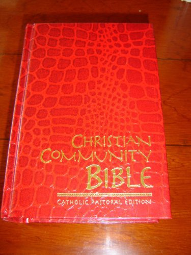 Christian Community Bible RED / Catholic Pastoral Edition Claretian Fiflty-second Edition / Color Maps, Thumb Index