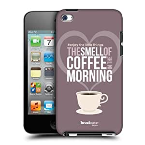 Head Case Designs Coffee Enjoy The Little Things Protective Snap-on Hard Back Case Cover for Apple iPod Touch 4G 4th Gen