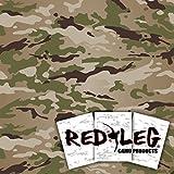 Redleg Camo OCP 3 piece 12''x9'' stencil kit scorpion W2 army airbrush