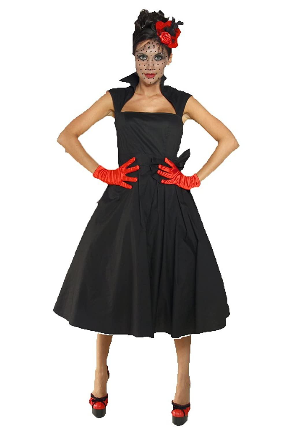Chic Star Rockabilly-Kleid Damen schwarz