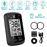 WOTOW GPS Bike Computer, Wireless Cycling Speedometer Waterproof Bicycle Odometer Bluetooth ANT+ Sensor Support USB Rechargeable 1.8″ LCD Auto Wake-up Backlight Motion Sensor for Road MTB Riding