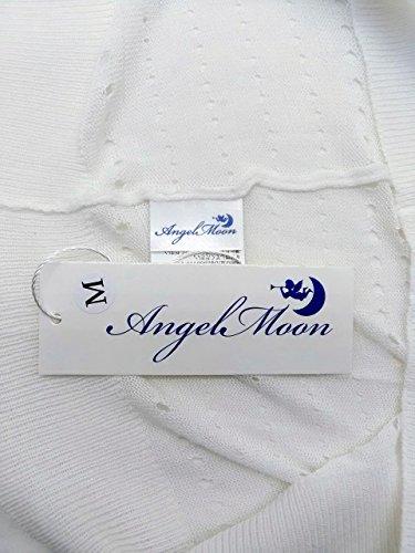 (エンジェルムーン) AngelMoon UVカット カーディガン レディース 夏 シースルー 白 ショート 長袖