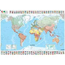 Michelin the World Map (Laminated, Rolled)
