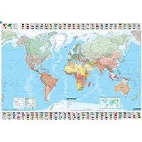 Il mondo scala 1:28.500.000. Ediz. plastificata ca. 100x144 cm