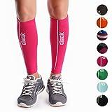 dimok Calf Compression Sleeve Pair - Leg Compression Socks for Calves Running Women