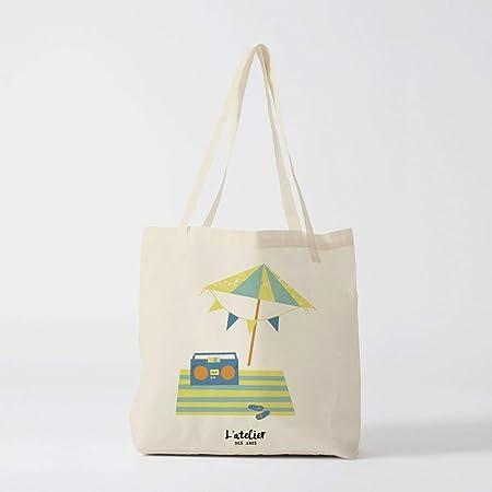 Bolso Tote Bag-Sea personalizado bolso de la bolsa del mar del sol bolsa de algodón novia Bachelorette fiesta personalizado bolso de la bolsa de regalo negro bolso de regalo: Amazon.es: Hogar