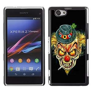 - Clown Evil Joker - - Monedero pared Design Premium cuero del tir¨®n magn¨¦tico delgado del caso de la cubierta pata de ca FOR Sony Xperia Z1 M51W Z1 mini D5503 Funny House