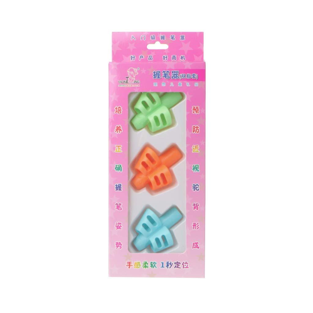 Folewr-8 3Pcs Crayon Grip Guides Doigts Aide Ecriture En Silicone Pour Enfant Adulte
